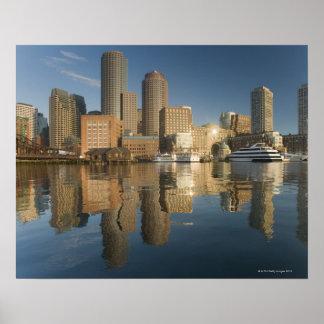 Puerto de Boston visto del pie Poi Poster
