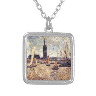 Puerto de Burdeos de Paul Gauguin Colgante Cuadrado
