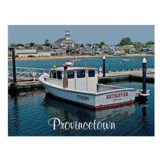 Puerto de Cape Cod Provincetown, postal del mA