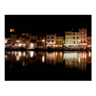 Puerto de Cassis en la noche Postal