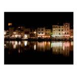 Puerto de Cassis en la noche Tarjeta Postal
