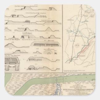 Puerto de Charleston, ejército de las operaciones Pegatina Cuadrada