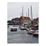 Puerto de Copenhague Tarjeta Postal