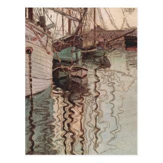 Puerto de Egon Schiele- de Trieste Postales