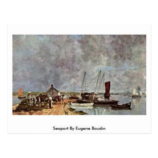 Puerto de Eugene Boudin Tarjetas Postales