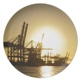 puerto de Hamburgo Plato De Comida