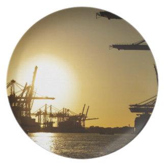 puerto de Hamburgo Platos Para Fiestas