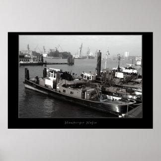 Puerto de Hamburgo Póster