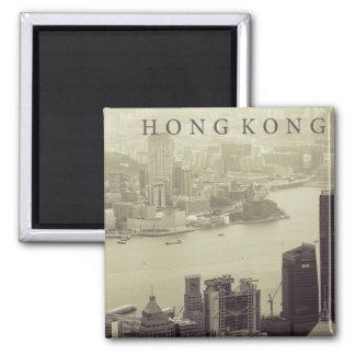 Puerto de Hong Kong Imán Cuadrado
