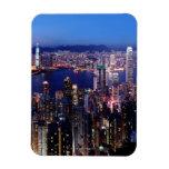 Puerto de Hong Kong Victoria en la noche Imán Rectangular