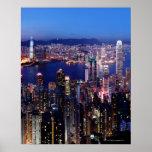 Puerto de Hong Kong Victoria en la noche Impresiones