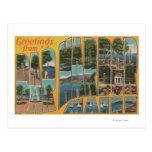 Puerto de la barra, Maine - escenas grandes de la Postales