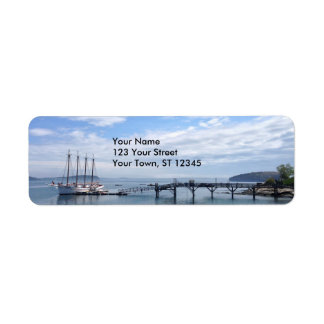 Puerto de la barra, Maine Etiqueta De Remitente