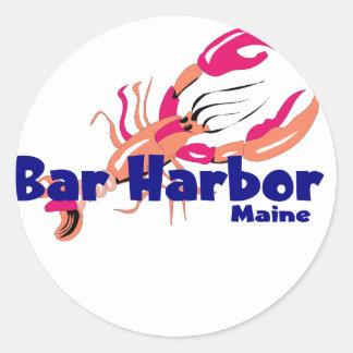 Puerto de la barra, Maine Pegatina Redonda
