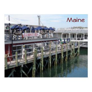 Puerto de la barra Maine Tarjetas Postales