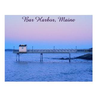 Puerto de la barra, postal de Maine