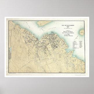Puerto de la barra, YO mapa 1896 del plan Impresiones
