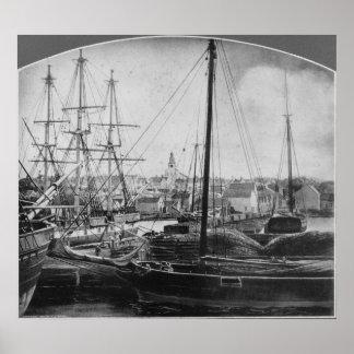 Puerto de la caza de ballenas, New Bedford Poster
