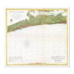 Puerto de la ciudad de Mississippi del mapa de la  Impresión En Lona