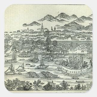 Puerto de la ciudad del cantón etiqueta