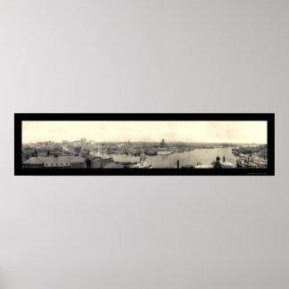 Puerto de la foto 1905 del MD de Baltimore Poster