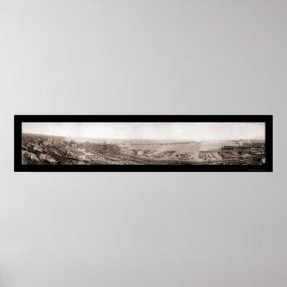 Puerto de la foto 1913 del manganeso de Duluth Póster