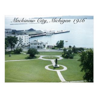 Puerto de la isla de Mackinac Michigan 1956 Postal