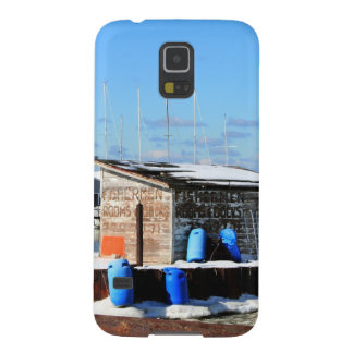 Puerto de la playa de Olcott en invierno Funda De Galaxy S5