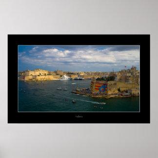 Puerto de La Valeta (isla de Malta) Póster