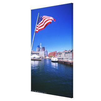 Puerto de los E.E.U.U., Massachusetts, Boston, Bos Impresion De Lienzo