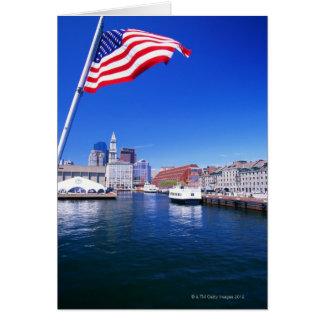 Puerto de los E E U U Massachusetts Boston Bos Tarjetas