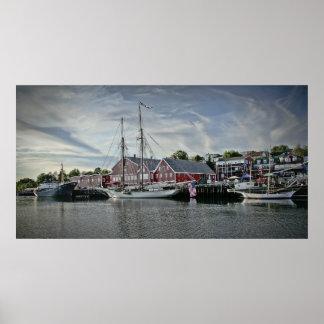 Puerto de Lunenburg, impresión de la bella arte de Posters