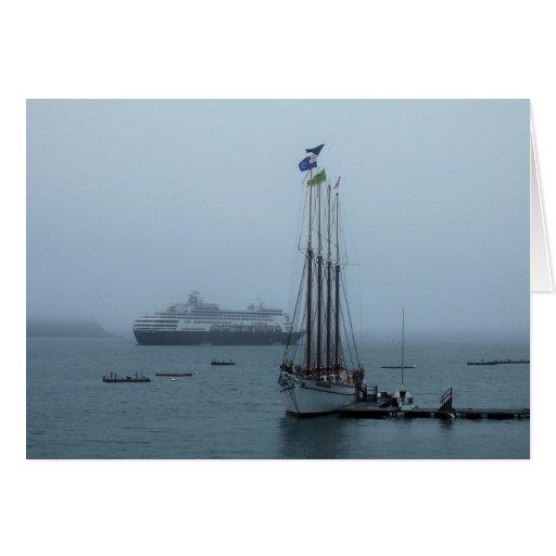 Puerto de Maine Tarjeta De Felicitación