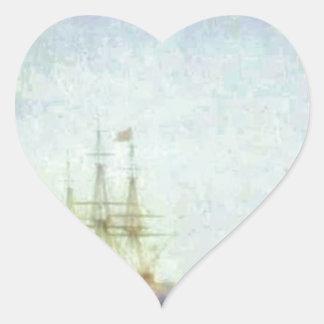 Puerto de Malta Valetto de Ivan Aivazovsky Pegatina En Forma De Corazón