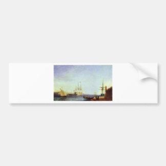 Puerto de Malta Valetto de Ivan Aivazovsky Pegatina Para Auto