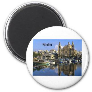Puerto de Malta Vallete (St.K) Imán Redondo 5 Cm