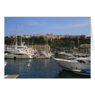 Puerto de Mónaco Tarjeta De Felicitación