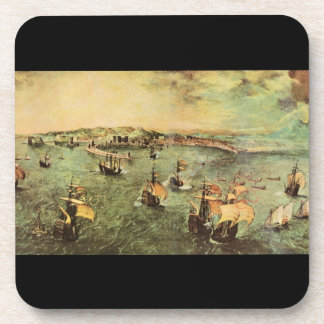 Puerto de Nápoles de Pieter Bruegel Posavasos De Bebidas