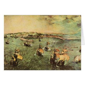 Puerto de Nápoles de Pieter Bruegel Tarjeta Pequeña