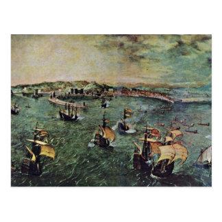 Puerto de Nápoles por Bruegel D Ä Pieter Tarjetas Postales