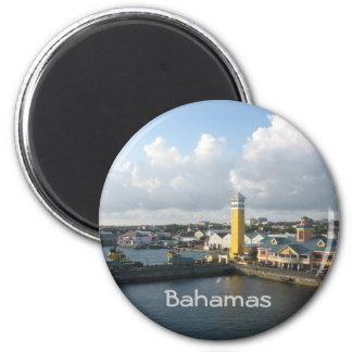Puerto de Nassau Imán Redondo 5 Cm