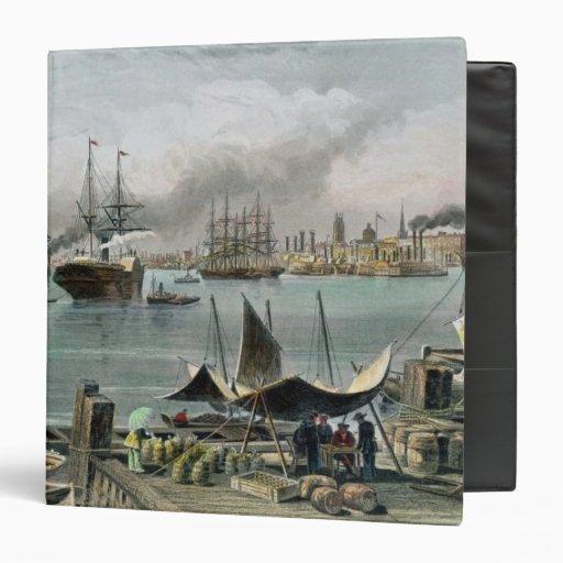 Puerto de New Orleans, grabado por D.G. Thompson