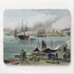 Puerto de New Orleans, grabado por D.G. Thompson Tapetes De Ratones