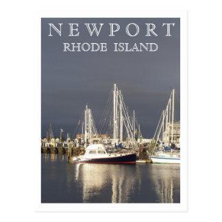 Puerto de Newport Tarjeta Postal