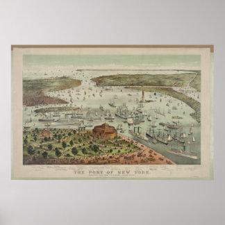 Puerto de Nueva York - 1892 Impresiones