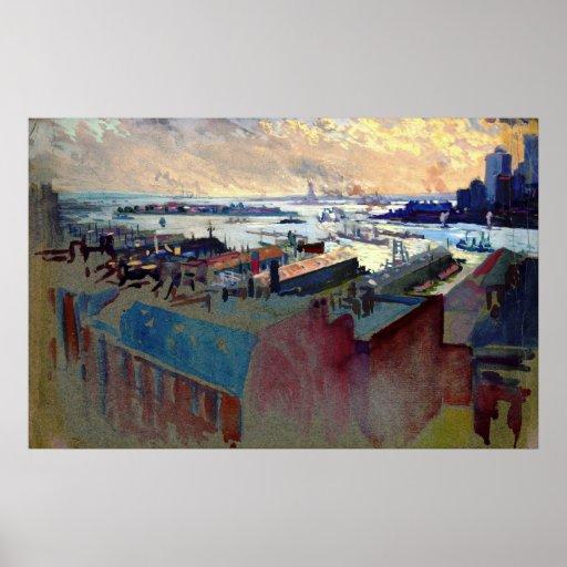 Puerto de Nueva York de la Margaret 1922 Impresiones