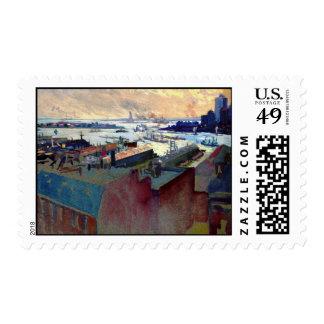 Puerto de Nueva York de la Margaret 1922 Franqueo