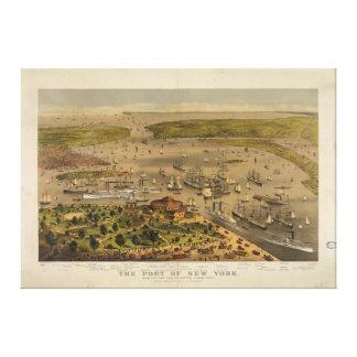 Puerto de Nueva York por curtidor y Ives en 1878