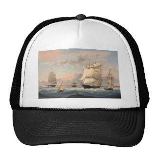 Puerto de Nueva York por el carril 1852 de Fitz He Gorros Bordados