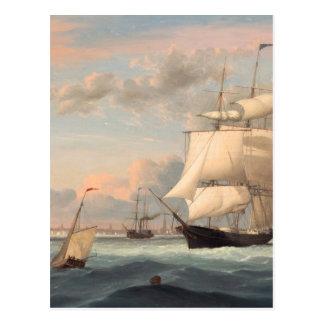 Puerto de Nueva York por el carril 1852 de Fitz He Postal